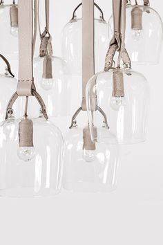 craftica-lights - Formafantasma /  glass and leather