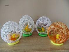 Best 12 Z Pasją Tworzone : 🌈: Stroiki Easter Egg Basket, Easter Bunny, Easter Eggs, Crochet Flower Patterns, Crochet Flowers, Crochet Lace, Bunny Crafts, Easter Crafts, Easter Crochet