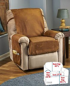 Give Your Recliner A Stylish Upgrade That Also Protects With The  Leather Look Recliner Cover. Its Soft, Faux Leather Construction Features  Memory Foam ...