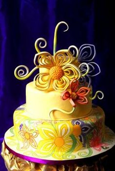 Whimsical Painted Cake