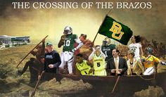 """Forget George Washington and the Delaware -- here's #RG3 and a host of Bears in """"The Crossing the Brazos."""" #sicem #Baylor (via @BaylorBearmada)"""