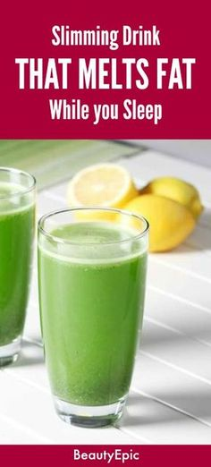 Slimming Drink That Melts Fat While You Sleep