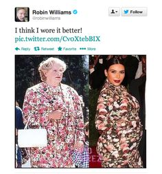 Robin Williams vs. Kim Kardashian
