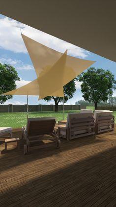 Outdoor Furniture, Outdoor Decor, Sun Lounger, Patio, Home Decor, Sun Sails, Solar Shades, Chaise Longue, Decoration Home