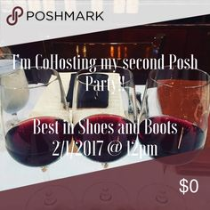 I'll be cohosting my second party Wednesday, Feb 1 See you all in the app 2/1/17 at noon for the Best in Shoes and Boots Party 🎉 Other
