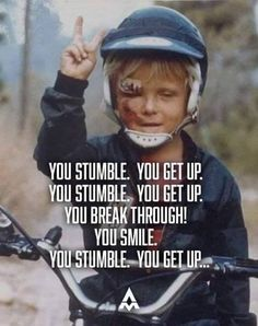Did you stumble this weekend? Smile and get up!   RELATED: 5 Basic mountain bike skills every beginner should learn - https://www.facebook.com/BikeRoar/videos/1034960469886122/.   #cycling #stumble #crash #onemoretime #getup #bike #inspiration
