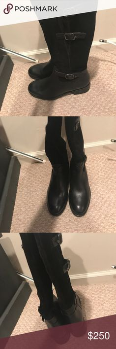 Clarks riding boots Never worn genuine leather Clarks Shoes Combat & Moto Boots