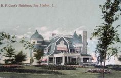 'Clench-Warton', the Henry Francis Cook estate designed by Montrose W. Morris c. Sag Harbour, NY. 1891.