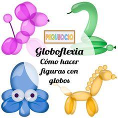 Cómo hacer divertidas figuras con globos para fiestas infantiles. Aprende globoflexia con vídeos fáciles y sencillos paso a paso.