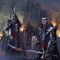 Dark Elves-Black Guard by DiegoGisbertLlorens