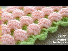 Punto burbujas en 3D y reversible tejido a crochet - Tejiendo Perú - YouTube