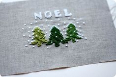 The Sometimes Crafter Holiday Crafting - xmas cross stitch noel -cute as a card?