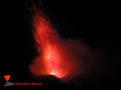 The #explosions of the #volcano #Stromboli.