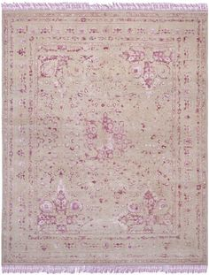 Traditional Dream Rug, hand knotted in India. Wool, Viscose, and Cotton.  Shop here: www.modernvintagerugs.com