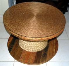 D.Y Faça Você mesma MESA de carretel de madeira | Blog Super Divas