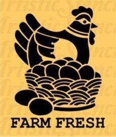 Farm Fresh Stencil 10x7.7