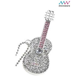 Microware 16GB Silver Metal Guitar Shape Designer Pendrive, http://www.snapdeal.com/product/microware-16gb-silver-metal-guitar/291059