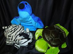 Adorable animal hand puppets.  Would make great Teacher's Aids for the classroom!  Available on Ebay member name djboomerang59