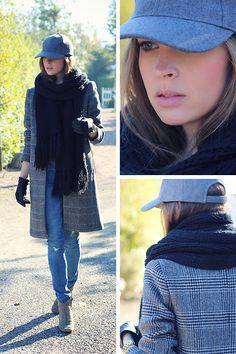Christine R. - Zara Coat, Isabel Marant Dicker Boots - In grey