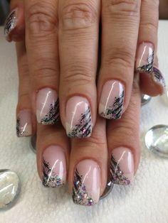 Creme und schwarz von Petras Pretty Nails