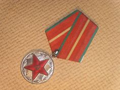 Soviet Vintage Medal Devoted to 20 years Of Irreproachable