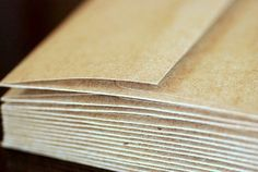"50 A7 Kraft Envelopes: kraft brown envelopes, grocery bag envelopes, A7 envelopes, eco-friendly and recycled, 5 1/4"" x 7 1/4"" (133x184mm)"