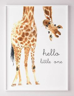 Giraffe Animal nursery decor Nursery wall art PRINTABLE art