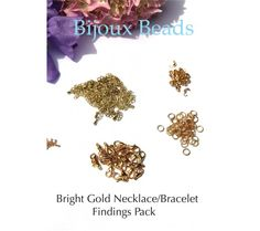 Gold Necklace/Bracelet  Findings Pack or Starter Kit