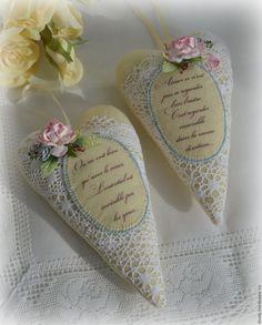 Купить Подвески-сердечки интерьерные - кремовый, сердечко, сердечко интерьерное, тильда сердечко, айвори
