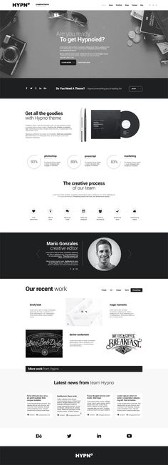Hypno - Modern, Responsive WordPress Theme #responsivewordpressthemes #html5themes #responsivetemplates #customizablethemes #modernwpthemes