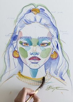 Learn Polina Bright sketching style - NEW tutorial - Art Sketches Arte Sketchbook, Art Drawings Sketches Simple, Painting & Drawing, Watercolor Art Paintings, Art Techniques, Aesthetic Art, Art Tutorials, Cute Art, Art Inspo