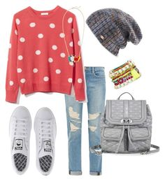"""Just chilling!"" by emma-oloughlin ❤ liked on Polyvore featuring Frame Denim, Equipment, Rebecca Minkoff, adidas, Spacecraft, Decree and Noir"