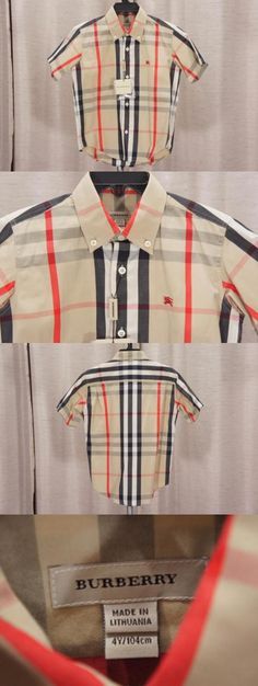 af11a2dcf Tops and T-Shirts 163401: Burberry Baby Toddler Check Print Top Shirt 4Y ->  BUY IT NOW ONLY: $149.99 on eBay!