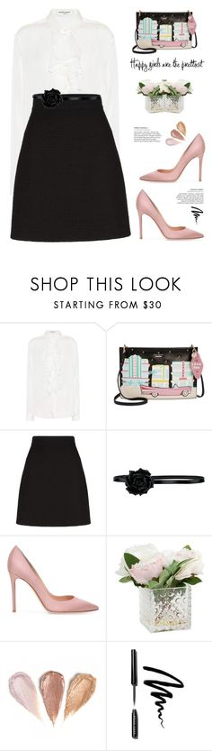 """""""OOTD"""" by yexyka ❤ liked on Polyvore featuring Yves Saint Laurent, Kate Spade, Gucci, Bobbi Brown Cosmetics, contestentry and polyPresents"""