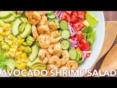 Avocado Shrimp Salad Recipe with cajun shrimp and the best flavors of summer. The cilantro lemon dressing gives this shrimp salad incredible fresh flavor!