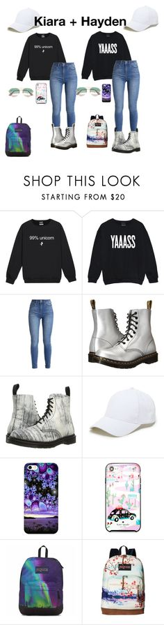 """HIYA"" by xenaolympus ❤ liked on Polyvore featuring Dr. Martens, Sole Society, Kate Spade, JanSport and Gucci"
