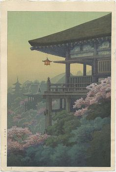 """Kiyomizu Temple in the Spring"""