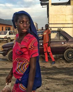 End of day blur in Joal, Senegal #streetphotography by Ricci Shryock