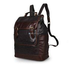 D New Arrival Excellent Genuine Leather Backpacks Knapsack Travel Bag School Bag Shoulder Backpacks 7305 Vintage Leather Backpack, Leather Backpack For Men, Leather Men, Leather Backpacks, Soft Leather, Shoulder Backpack, Men's Backpack, Cute Girl Backpacks, Backpack Organization