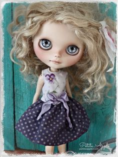 Blythe doll outfit Sweet violet grunge chic by PetiteAppleShop
