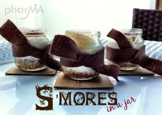 smores in baby food jars