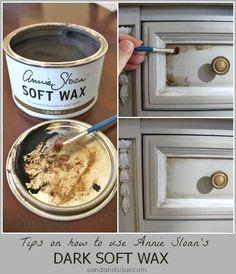 How to Use Annie Sloan Dark Soft Wax                                                                                                         Sand and Sisal