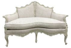 French Linen Settee