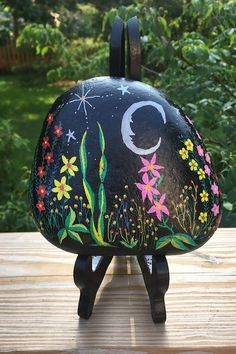 If you like what you see in the pictures and video, you'll be pleasantly surprised when you receive the rock and view it up close and in person. Painted Rocks For Sale, Hand Painted Rocks, River Stones, Under The Stars, Rock Art, Picture Video, Etsy Store, House Warming, Flowers