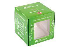 Spendenbox mit Sichtfenster • 4-färbig #Offsetbedruckt • #Dinkhauser Kartonagen, #Verkaufsverpackung