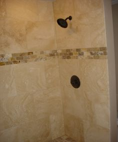 Travertine Shower in Alpharetta GA