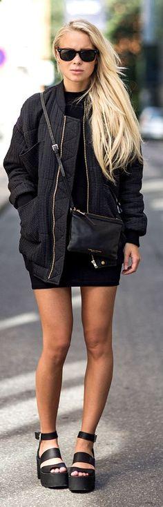 Windsor Smith Black Leather Women's Chunky Multi Strap Platform Sandals