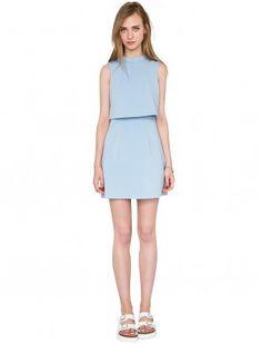 powder blue day dress