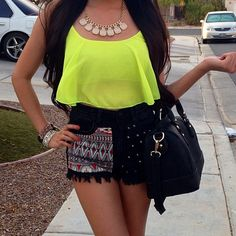 Shorts, Shirt, Necklace, love it all!