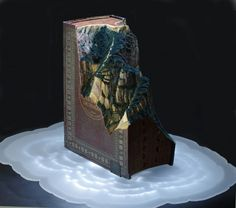 Altered book art by Guy Laramee